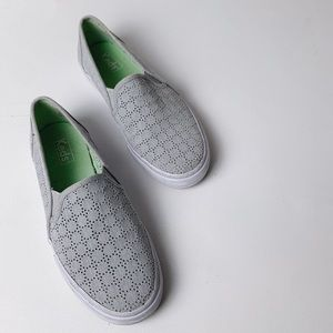 KEDS Double Decker Platform Perforated Slip Ons